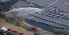 水上太陽光発電設備台風被害